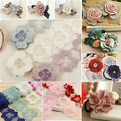 1 yard Vintage Lace Flowe Edge Trim Ribbon Embroidered Applique DIY Sewing Craft