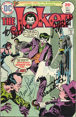 Adam West - Inscribed Comic Book Signed Circa 1975 With Co-Signers