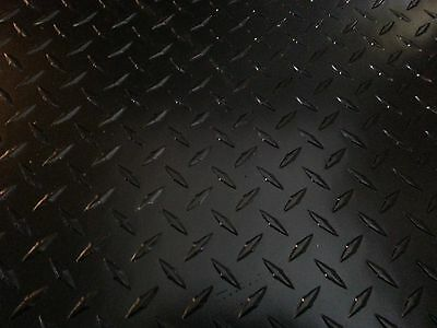 ".063 Black Powdercoated Aluminum Diamond Plate Corner Guard Angle 2"" x 2"" x 48"""
