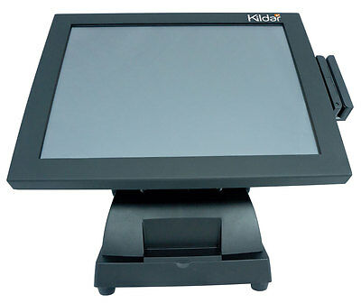 "Kildar T1561 15"" LED TouchComputer POS Restaurant Bar for Aldelo W8.1 MSR Wi-Fi"