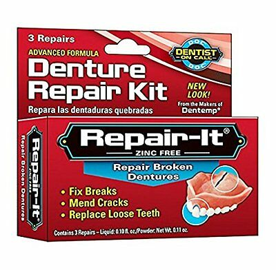 D.O.C. Repair-It Denture Repair Kit Zinc Free 3 Repairs