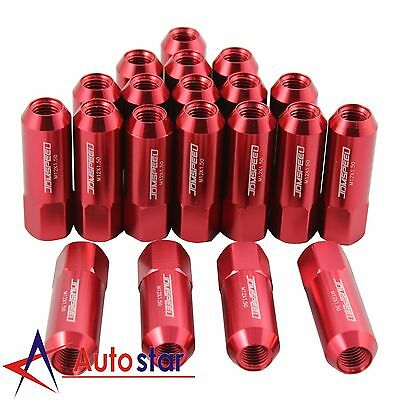 20PCS Red M12X1.5 60MM Aluminum Tuner Racing Lug Nuts For Acura Honda Toyota
