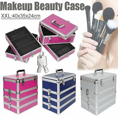 4 In 1 Vanity Makeup Nail Tech Case Beauty Cosmetic Hairdressing Box Carry Case