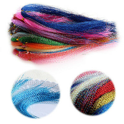 100Pcs 30cm Flash Fly Tying Material Krystal Fishing Lure Making Streamers Tool