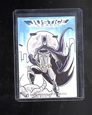 2016 Cryptozoic DC Justice league sketch card  by Marcio Cabreira