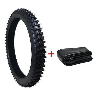 """KNOBBY FRONT TYRE + TUBE 80/100-21""""  21 INCH for  DIRT BIKE OFF ROAD PIT BIKE"""