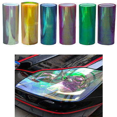 Colorful Chameleon Changing Tint Wrap Sticker Headlight Film Car Light Lamp