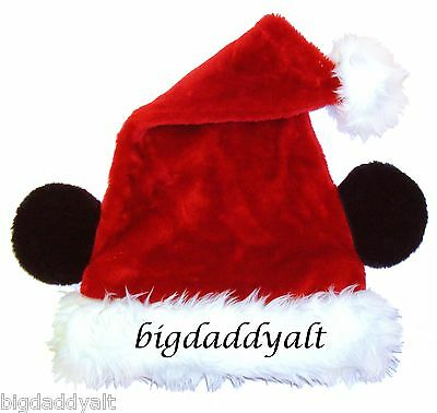 New Disney Parks Mickey Mouse Ears Christmas Santa Hat Adult