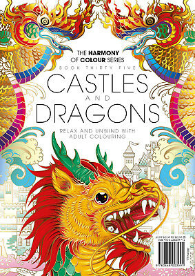 Harmony of Colour Book 35 Castles and Dragons - Adult Colouring 36 Designs - NEW