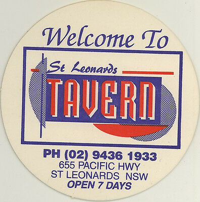 Coaster: St Leonards Tavern