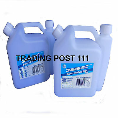 2 X Two Stroke Mixing Bottles Fuel Oil Petrol Strimmers Chainsaws Bikes Mix 32C