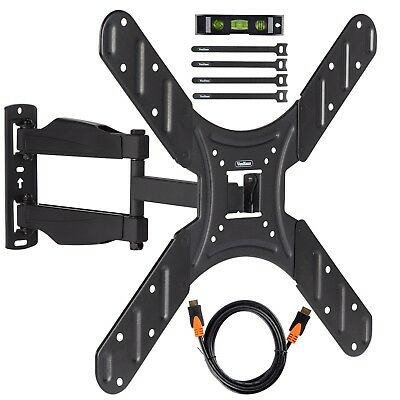 """VonHaus 17-56"""" Tilt & Swivel TV Wall Bracket Mount with HDMI, Cable Ties & Level"""