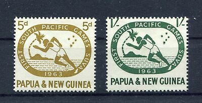 s8775) PAPUA & NEW GUINEA MNH**1963, South pacific games 2v
