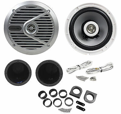 "New Alpine SPS-M601 Pair 6.5"" 2-Way Marine/Boat Wakeboard Coaxial Speakers"