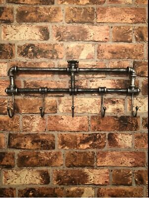 Vintage Industrial Style Wall Mounted Coat Hooks Rack Pegs Towel Rail Urban Chic