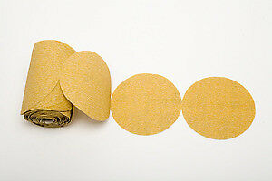 "Premium Gold 5"" PSA Sticky Back Self Adhesive Sanding Discs Roll 150 Grit"