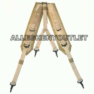 US Military Alice Y SUSPENDERS LBE Load Bearing Shoulder Web Harness TAN MINT