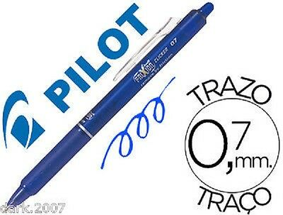 Lote - 6 Pilot Frixion Clicker  - Azul - Borrable & Retractil