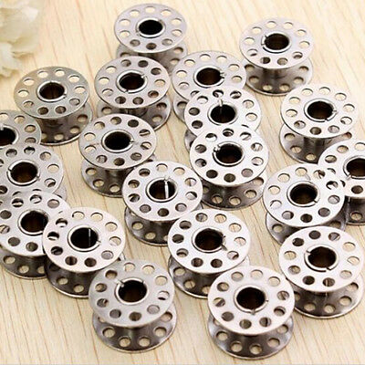 20pcs Sewing Machine Bobbins Stainless Metal For Kenmore Viking Singer