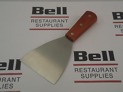 "*NEW* Update WSCR-4 Wood Handle 4"" Slanted Blade Grill Scraper - FREE SHIPPING!"