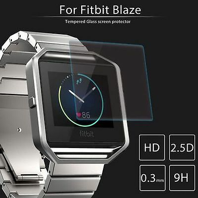 2-PACK Premium Tempered Glass Screen Protector For Fitbit Blaze Smart Watch New