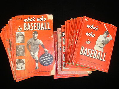 Lot of 23 Different 'Who's Who in Baseball' Magazines - 1956-1978
