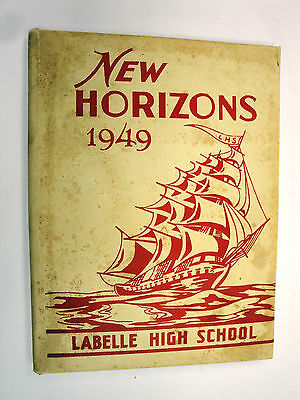 """1949 Vintage Antique Labelle High School Florida Yearbook Annual """"new Horizons"""""""