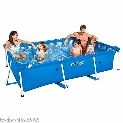 Piscina Intex Small Frame 220x150x60cm Desmontable Rectangular Familiar 28270