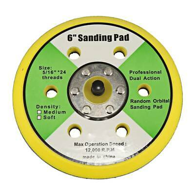 6 Inch Sanding Polishing Pad 5/16-24 TPA For DA Sander Backed Hook Face