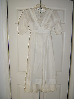 Antique Late Victorian Ladies Cotton and Lace 3-Pc. Outfit 1800's/1900's