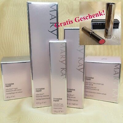 Mary Kay TimeWise Repair Volu-Firm Set 5tlg +Gratis Lacquered Lip Shine Sunbaked