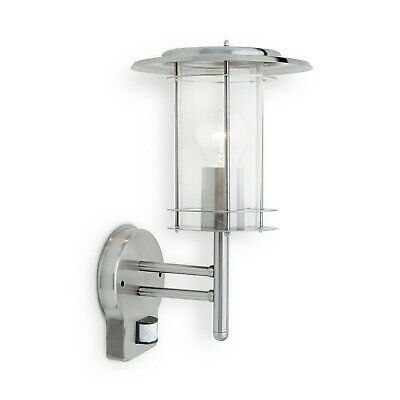 Saxby 4479782 York 60W Stainless Steel Outdoor IP44 Security Sensor Wall Light