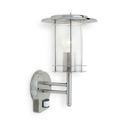Saxby 4479782 York Stainless Steel 60W PIR Security IP44 Outdoor Wall Lantern