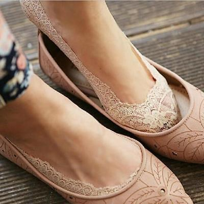 Chic Women Invisible Socks Fashion Lace Ankle Socks Trainer Ballerina Socks - 6A