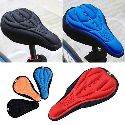 Cycling Bike Bicycle 3D Silicone Saddle Seat Cover Gel Cushion Soft Pad Cover
