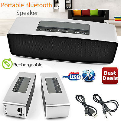 New Portable Bluetooth Speaker Stereo Wireless Powerful Smart Support TF AUX USB