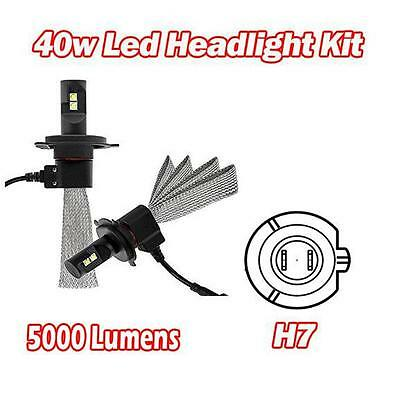 H7 40W Cree LED Headlight Kit 5000 Lumen 5000K - Land Rover Discovery III 04-