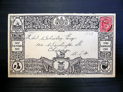 GB 1908 Ed.VII Penny Postage JPS Envelope with London CDS NEW PRICE FP7065