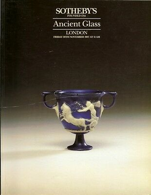 SOTHEBY'S Ancient Glass Roman Egyptian Hellenic Auction Catalog 1987
