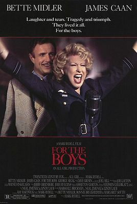 For The Boys (1991) Original Movie Poster 27x40 Bette Midler James Caan