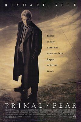 Primal Fear (1996) Original Movie Poster 27x40 Double Sided  Richard Gere