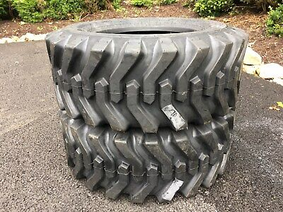 2 NEW 12-16.5 Skid Steer Tires  - 12 ply rating - 12X16.5 - For Bobcat & others
