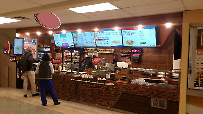 5 screens restaurant digital menu boards for fast food package, menu signs cms