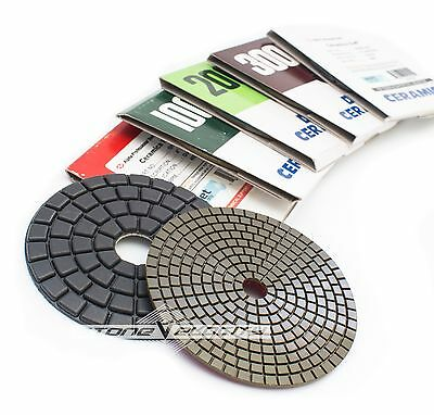4 Inch Alpha Dia Ceramica Diamond Polishing Pads