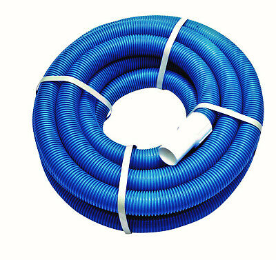 Floating hose Pool hose Suction hose 8,0 m blue with 2 Threaded adapters 38 mm