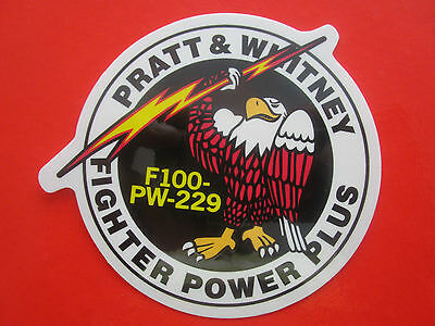 Autocollant Sticker Aufkleber Pratt & Whitney F100-Pw-229 F-15 F-16 Us Air Force