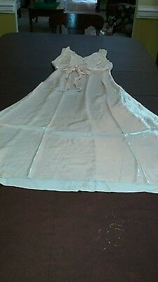 """Vintage 1930-40s """"CHEVETTE"""" Gown& Robe- Rayon - Light peach color - FREE SHIP"""