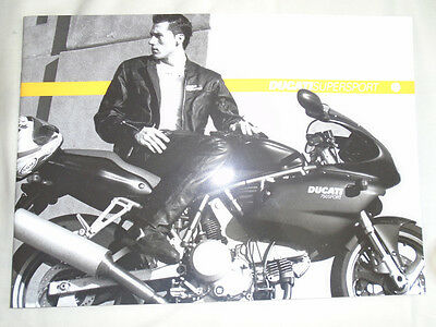 Ducati Supersport motorcycle brochure c2003 Italian & English text