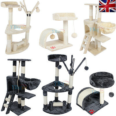 Pet Cat Tree Condo Furniture Scratching Post Scratcher Pet Bed House Play Toy UK