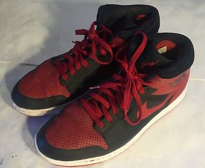 Mens Air Jordan Alpha 1 Black Red shoes